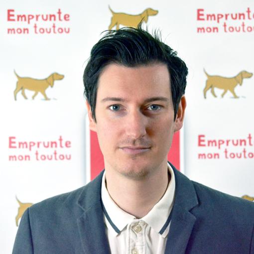 Thibaut Thibaut Pfeiffer, le CEO d'empruntemontoutou.com